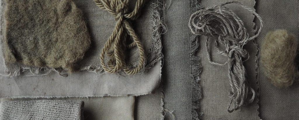 Tinte de nogal sobre lana, algodón y lino