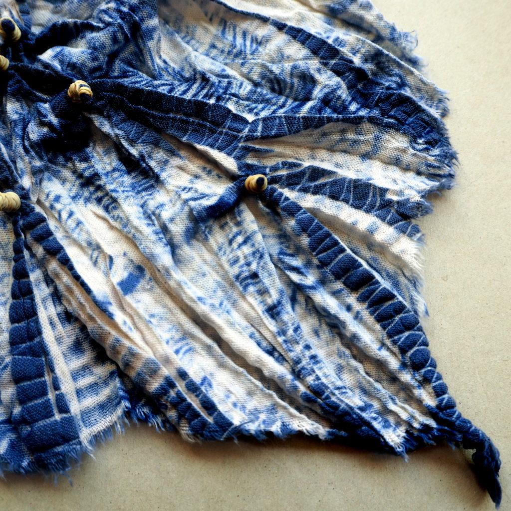 Shibori con amarras pequeñas y grande - proceso