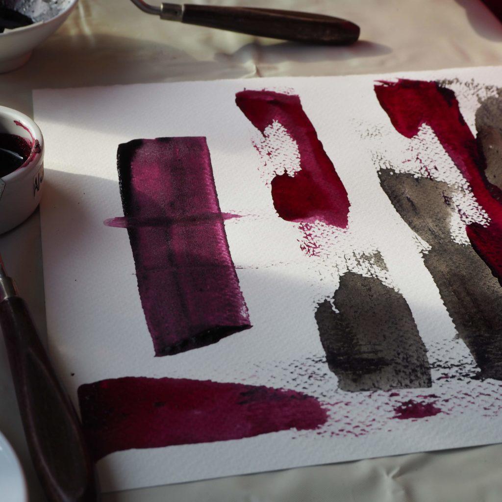 Pintando con cochinilla