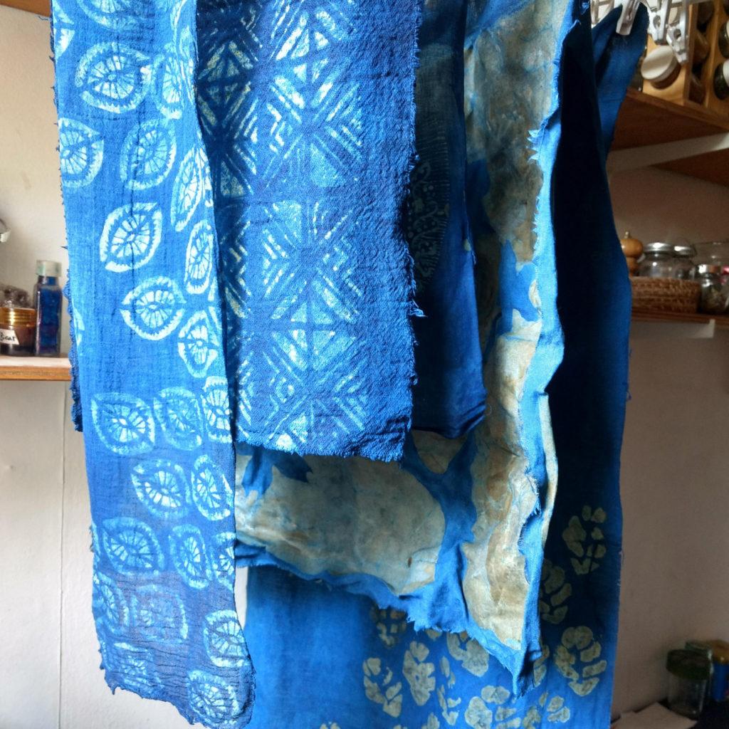 Katazome y Batik teñidos con índigo natural