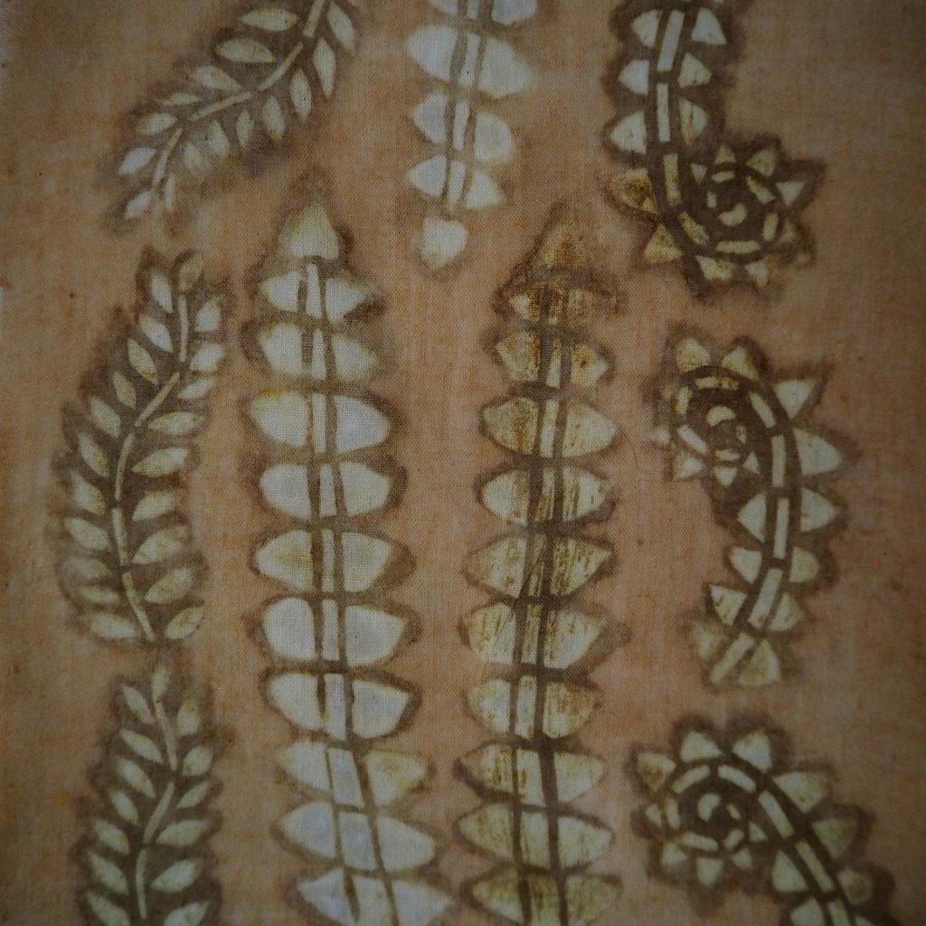 Katazome con pinturas naturales de palta y nogal