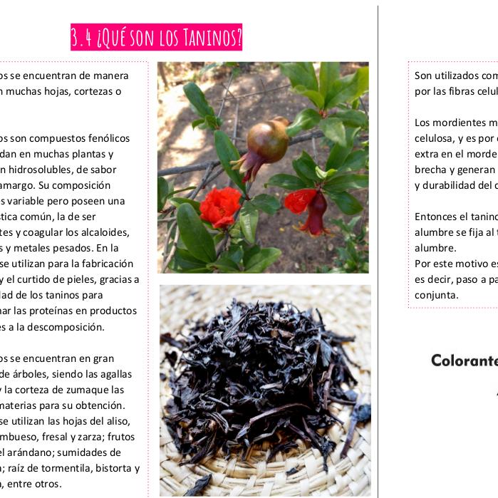 Manual curso tintes naturales para fibras vegetales