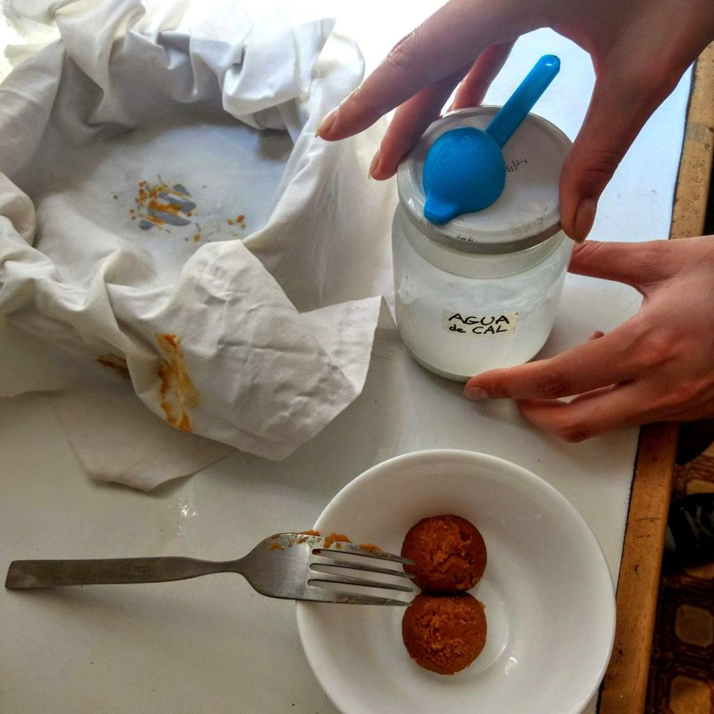 Preparando pasta de reserva