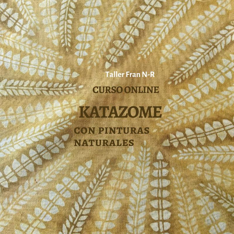 curso online katazome con pinturas naturales
